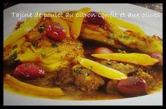 C'est une recette répandue est très appréciée au Maroc, ce tajine est un plat de poulet tendre mijoté dans une sauce jaune pleine d'épices : de curcuma, gingembre, est safran. Il est garni en fin de cuisson de quartiers de citrons confits et d'olives....