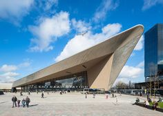 The remodelled Rotterdam Centraal station by Benthem Crouwel, MVSA Architects and West 8 opened in 2014. Photograph by Jannes Linders