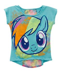 Another great find on #zulily! Aqua & Turquoise My Little Pony Hi-Low Tee - Girls #zulilyfinds