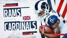UK design influence for social/digital takeover for week of Rams game in London Twickenham Stadium, Todd Gurley, Football Helmets, London, Digital, Sport Design, Behance, Game, Gallery