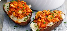 Transform the humble jacket potato with this fab, filling topping.