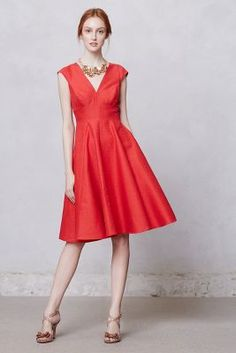 Sophie Dress - Anthropologie.com.  Who doesn't love a red dress!