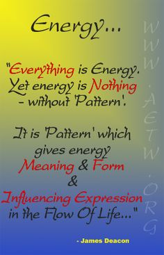 energy or pattern?