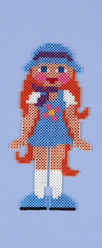 Cool girl /  hama bead perler pattern - Bügelperlen
