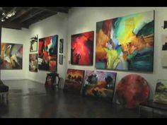 Artist Jonas Gerard painting to performance by Gwen Hughes - YouTube
