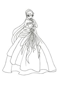 Winx Club Coloring Pages Printable for Download