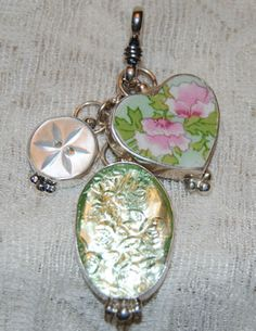 Broken China Jewelry Broken China Earrings Pendants