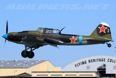 Ilyushin Il-2M Shturmovik ground attack. Almost 40,000 built. Very few left...and this one flies. Assembled from the remains of four aircraft recovered in Russia, for the co-founder of Microsoft.