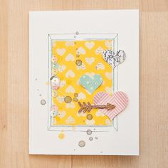 Hearts and Arrow Card by maggie holmes at @Studio_Calico