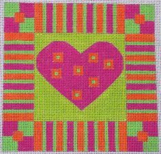 Tropical Heart (Bright Version) by EyeCandy Needleart