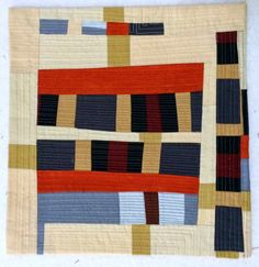 Small Improv quilt by Mary Keasler | Fiberliscious. Inspired by Gee's Bend quilters.
