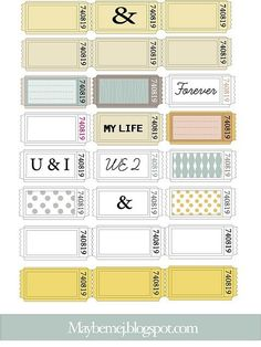vintage tickets free printables http://www.ecrafty.com/c-81-craft-supplies.aspx