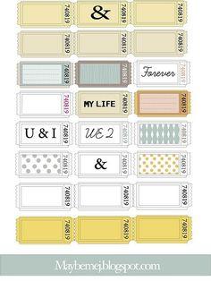 vintage tickets free printables http://www.ecrafty.com/c-81-craft-supplies.aspx