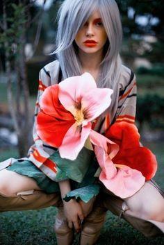43 #Mädchen Schaukeln #pastellfarbene Haar...