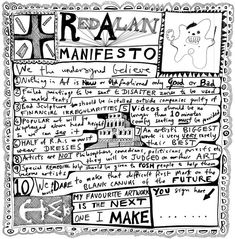 We've heard the party manifestos – now let's take a look at the ones that shook up the art world, from Sir Joshua Reynolds to the Guerilla Girls. Grayson Perry Art, Art Manifesto, Guerrilla Girls, Ten Games, Joshua Reynolds, Royal Academy Of Arts, Popular Art, Recycled Art, Outsider Art