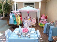 Princess dress up party - love the little tent/castle!