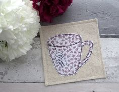 Personalised Coaster For Mum, A Fabric Mother's Day Gift £6.50