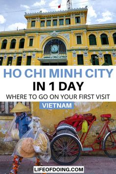 Headed to Ho Chi Minh City, Vietnam? Read this Ho Chi Minh City 1 day itinerary to learn about the best things to do in Ho Chi Minh City, where to eat, and other tips from a local. One day in Ho Chi Minh City itinerary | One day in Saigon | What to do in Ho Chi Minh City | Ho Chi Minh City food | Ho Chi Minh City travel guide | Ho Chi Minh City travel tips | Vietnam bucket list | Ho Chi Minh City photography | Ho Chi Minh City shopping #LifeOfDoing Travel Guides, Travel Tips, Travel Destinations, Travel Goals, Luang Prabang, Vietnam Travel Guide, Asia Travel, Laos, Visit Vietnam