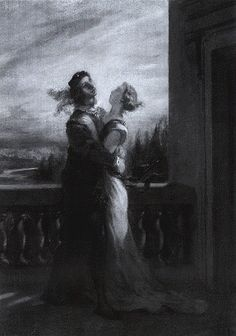 Delacroix. Les Audiex Romeo et Juliett. 1845.   Private Collection,U.S.A.(L. Johnson, The  paintings of Eugene Delacroix, vol. IV,  pl. 101)