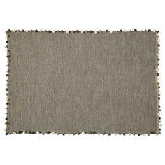 Teppich mit Pompons grau 120x180