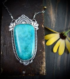 into the blue ... Persian turquoise pendant by sirenjewels on Etsy https://www.etsy.com/listing/279920898/into-the-blue-persian-turquoise-pendant