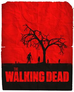 The Walking Dead Minimalist Poster I was gonna put my Cafe Cup logo on their but I just love how clean and simple it is so I couldn't bring myself to do it.