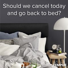 Should we cancel today and go back to bed?  Seems like a good idea to me!