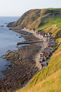 Crovie, Scotland. This is the entire town.