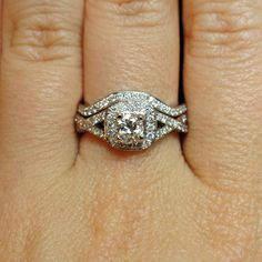 Cz Engagement Ring Round Solitaire With Small Czs Hope Chest Jewelry 19 49 A Can Dream Pinterest Rings