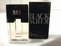 AVON BLACK SUEDE COLOGNE SPRAY 3.4 FL OZ NIB  #Avon