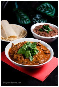 Bistec en Salsa Roja - Comida mexicana