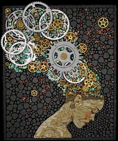 art - gears - steampunk - collage Tap the link now to find the hottest products to take better photos! Art Punk, Steampunk Kunst, Steampunk Artwork, Steampunk Crafts, Gear Art, Mosaic Projects, Mosaic Ideas, Wow Art, Mosaic Designs