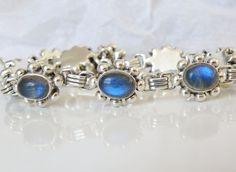 New Sterling Silver 925 Color Change Labradorite Station Toggle Bead Bracelet #Designer #Tennis