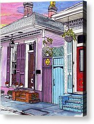 59 French Quarter House with Red Door by John Boles
