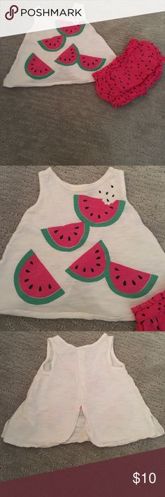Watermelon outfit 6-12 months Old Navy watermelon outfit Old Navy Matching Sets