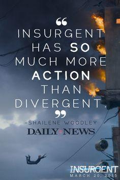"""It's so fun. I felt like Spider-Man."" -Shailene Woodley Have you seen the Insurgent teaser trailer yet?"