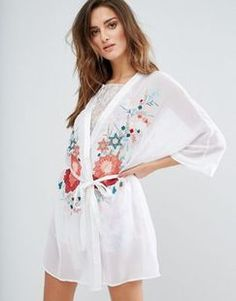 ASOS River Island Floral Embroidered Robe With Tie Found on my new favorite app Dote Shopping #DoteApp #Shopping