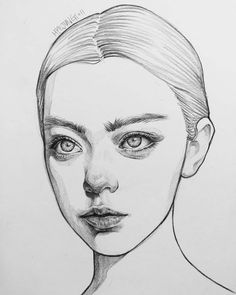 Girl Drawing Sketches, Face Sketch, Portrait Sketches, Cool Art Drawings, Pencil Art Drawings, Realistic Drawings, Portrait Art, Sketches Of Love, Doodle Sketch