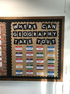 What kind of careers can an interest in geography lead to? We love this inspiring classroom display! Geography Bulletin Board, Geography Classroom, Teaching Geography, History Classroom, Geography Gcse, Geography Quotes, Geography Revision, Geography Activities, Human Geography