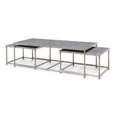 MANSFIELD SHAGREEN NESTING COFFEE TABLES, S/3