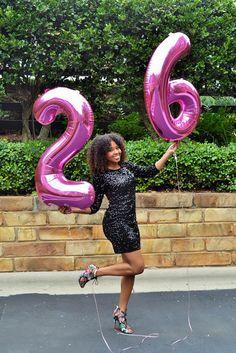 Happy 26th Birthday! Balloons and big hair on my blog! www.JustBeingBritt.com Just Being Britt JustBeingBritt