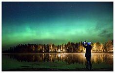 Northern lights in Kajaani. Photo: Simone Schröter