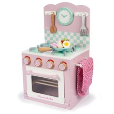Le Toy Van Honeybake Oven And Hob Set (Pink) from PreciousLittleOne, with oven & hob set and encourages imaginative play. Kids Wooden Kitchen, Wooden Play Food, Wooden Toys, Van Kitchen, Kitchen Oven, Kitchen Sets, Kitchen Island, Oven And Hob, Oven Glove