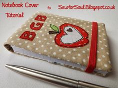 SewforSoul: Fabric Journal Cover Tutorial