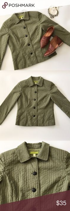 """Sigrid Olsen quilted jacket Gorgeous Sigrid Olsen quilted jacked in like new condition. Measures 23"""" in length, in absolutely perfect shape. Make an offer or bundle and save! Sigrid Olsen Jackets & Coats"""