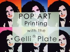 Pop Art with the Gelli Arts® Printing Plates! Pop Art, Gelli Plate Printing, Gelli Arts, Plate Art, Art Courses, Art Lesson Plans, Gravure, Teaching Art, Art Techniques