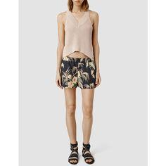 AllSaints Kos Shorts (£105) via Polyvore