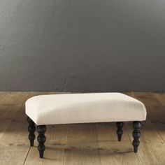 Classic Bench | Upholstery | Ballard Designs my choices would be dove grey wood finish with chocolate twill upholstery.