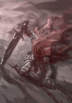 Slave Knight Gael by YeastSoldier on DeviantArt Dark Souls III: The Ringed City, Slave Knight Gael b Arte Dark Souls, Dark Souls 2, Demon's Souls, Fan Art, Soul Saga, Bloodborne Art, Illustration Mode, Fantasy Warrior, Character Design
