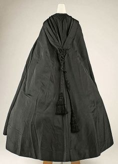 Black Silk Cloak - American  c.1860's  -  The Metropolitan Museum Of Art